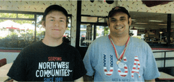 Burgervilie employees and Special Olympians. Michael & Bryan
